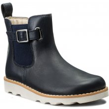 Clarks Crown Art Inf 261305436 Navy Leather
