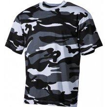 MFH maskáčové tričko vzor skyblue