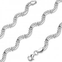 Silvego Stříbrný náhrdelník Vivia rhodiovaný stt-n006
