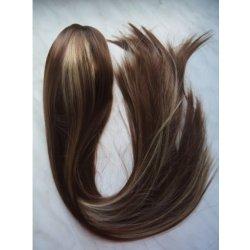 Příčesek do vlasů na skřipci 65 cm - HNĚDÁ melírovaná 78124b ... 3e91a3b036