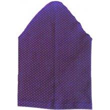 b2118dcaac3 Dívčí šátek tmavě fialový s malinovými puntíky