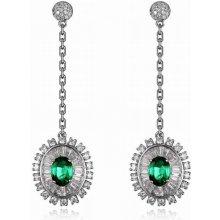 Eppi zlaté visací náušnice se smaragdy a diamanty Rie E33678 95694110c71