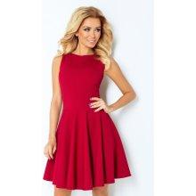 Numoco společenské a plesové exkluzivní šaty s kolovou sukní krátké bordó 7e0e02fe9c0