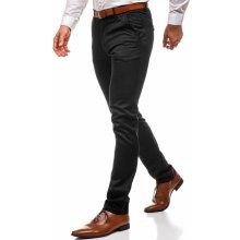 Černé pánské chino kalhoty Bolf 3174
