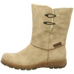 Dámské béžové kotníkové zimní boty s kožíškem PERFECT FIT RIEKER Z0194-60