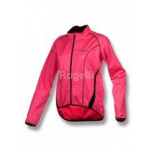 Rogelli softshellová BARA reflexní růžová černá