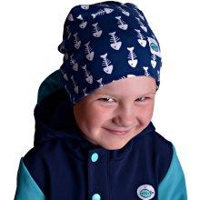 dětská jarní čepice tmavě modro bílá 5bf697176b