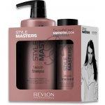Revlon STYLE MASTERS Smooth Pack uhlazující šampon 400 ml + uhlazující krém na vlasy s termo ochranou 150 ml dárková sada