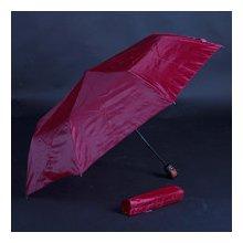Jednobarevný skládací deštník Lejla bordó