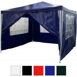 Zahradní domek Zahradní párty stan - modrý 3 x 3 m + 4 boční díly