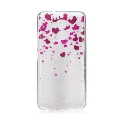 Pouzdro Softy gelové Asus Zenfone 3 Max ZC520TL - srdíčka