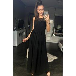 c411992f6cc Eva   Lola dámské společenské a plesové šaty dlouhé pošité perličkami černá