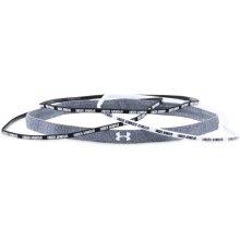Dámská čelenka Under Armour Mini Wordmark Headbands 4-Pack černo-bílá-001