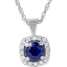 Eppi Diamantový zlatý náhrdelník se safírem Kateri N31569 c1d815163e6