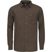 Bushman Raub Pánská košile tmavě hnědá 094cb31032