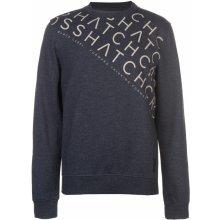 Crosshatch Leeroy Crew Sweater Mens Night Sky Marl