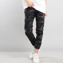 Mass DNM Base Sneaker Fit Jogger Pants camo černé / tmavě šedé