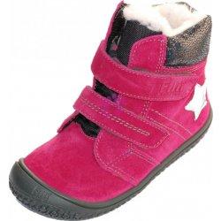 98071d82bb3 Filii dětské zimní barefoot boty na suchý zip - růžové dětská bota ...