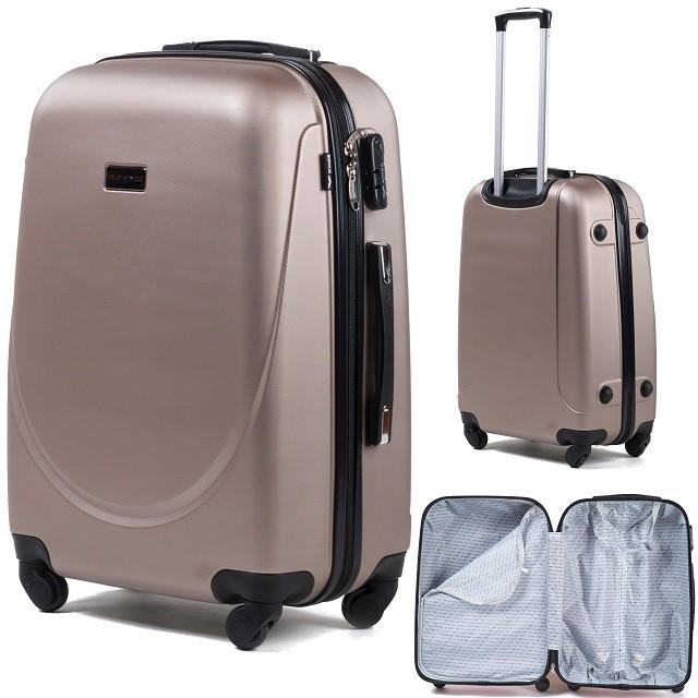 WINGS 92 Cestovní kufr bronzový 244e58099a