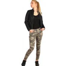 b3db6ada5c71 TopMode Dámské úzké kalhoty s army potiskem zelená
