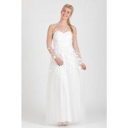 128e203a7077 Chi Chi London exkluzivní svatební šaty Annabel bílá.