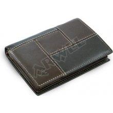 Arwel Pánská kožená dokladovka 514 2220A v kombinaci černé a hnědé barvy