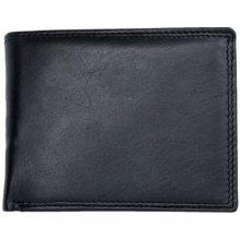 Kožená černá kvalitní klasická peněženka HMT