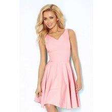 Numoco dámské elegantní společenské a plesové šaty 114-5 růžová a76da05ecc