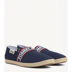 ee6fe2c48 Skate boty Tommy Hilfiger modré pánské espadrilky Tommy Jeans Stripe Summer  Shoe Ink