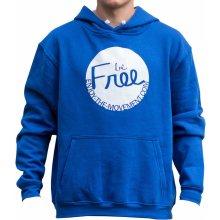 Mikina s kapucí Be Free Modrá