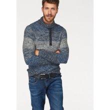 Blend Pletený pulovr, modrá-šedá-melír