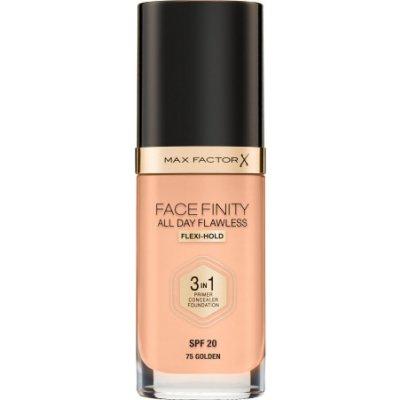 Max Factor Facefinity 3 in 1 tekutý make-up s uv ochranou SPF20 75 Golden 30 ml