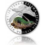 Česká mincovna Stříbrná mince Ohrožená příroda Ještěrka zelená proof 16 g