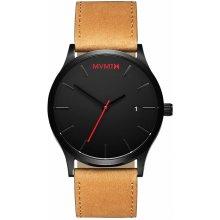 MVMT Black / Tan Leather