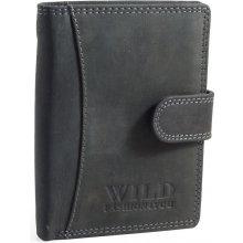 bb96f07cceabd Wild fashion4U pánská kožená peněženka WF5500L BL