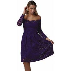 Společenské krajkové šaty fialová od 850 Kč - Heureka.cz 788bfef598