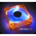 Revoltec UV LED-Fan, Chassis Orange / Blades blue