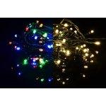 OEM D39232 Vánoční světelný řetěz 100 LED - 9 blikajících funkcí - 9,9 m