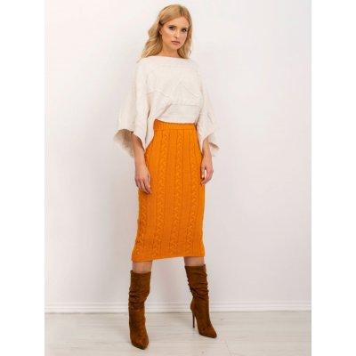 Dámská sukně pletená s copánky bsl-sd-14072 orange