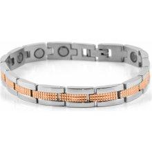 Trendhim náramek ocelový magnetický s detaily v zlato-růžové L2-7-2063