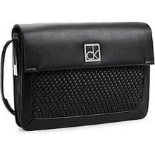 Calvin Klein Elegantní kabelka Nicole Woven Triple Compartment Date Bag 36095027 Black