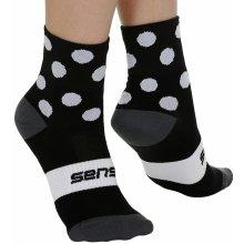 Sensor ponožky Dots - Black/White