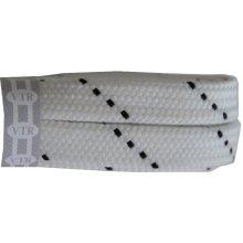 Ploché tkaničky do bruslí bílé 180 cm