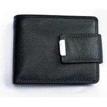 HMT pánská kvalitní kožená peněženka s přezkou černá