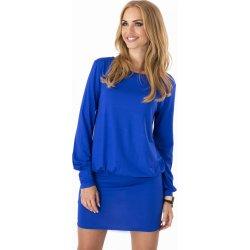 Dámské šaty 8998 v horní partii volné s dlouhým rukávem krátké modrá ... de851329744