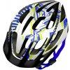 Přilba, helma, kokoska Carrera Hurricane white-blue-lime 2014