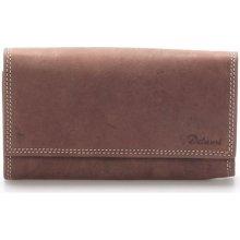 Delami Peněženky Dámská kožená peněženka hnědá Guara Hnědá