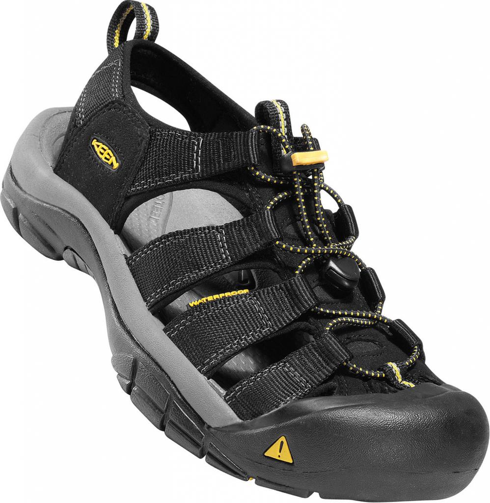 6db9b74fc37b KEEN Newport H2 M black outdoorové sandály