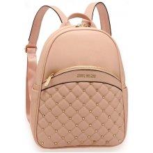 Anna Grace elegantní batoh s logem na přední straně růžový 2d2b568b5a