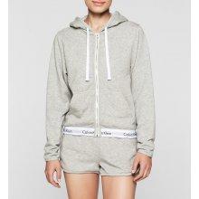 Calvin Klein Modern Cotton Top Hoodie Full Zip Šedá 47d7091bed